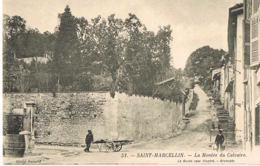 SAINT-MARCELLIN - Isère- La Montée Du Calvaire - Chariot à Bras-EditLe Guide Rose Illustré N° 51-  Scans Recto Verso- - Saint-Marcellin