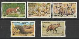 BOTSWANA  1977   WWF  DIMINISHING SPECIES   SET   MNH - W.W.F.