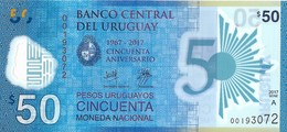 Uruguay - 50 Pesos 2017 - Série A - N° 00193072 - Neuf Avec Légère Pliure - - Uruguay