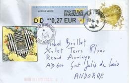Boucheron: Fine Jewelry & Balmain (fashion House) Paris, Letter 2019, Sent To Andorra, With Arrival Postmark - Minerals