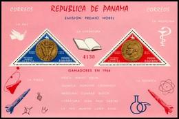 ~~~ Panama 1965 - Alfred Nobel Good Block - Mi. Block 38 ** MNH OG ~~~ - Panama
