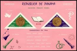 ~~~ Panama 1965 - Alfred Nobel Imperf Good Block - Mi. Block 39 ** MNH OG ~~~ - Panama