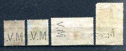 FRANCE - Y&T 285, 287, 500 Et 567 Perforés M.V. (Magasins Maurice VERTS à Bordeaux) - Frankrijk