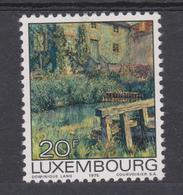 """Luxembourg 1975 - N° 855 XX -   Tableau """"Le Barrage """"  De L'artiste Luxembourgeois Dominique LANG - Moderne"""