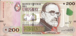 Uruguay - 200 Pesos 2015 - Série F - N° 00878809 - Neuf - Non Circulé - - Uruguay