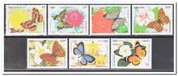 Cambodja 1991, Postfris MNH, Butterflies, Flowers - Cambodja