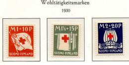 PIA - FINLANDIA  - 1930 : A Profitto Della Croce Rossa - (Yv 156-58) - Primo Soccorso