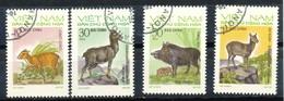 VIETNAM - Mi.Nr.   731 -  734   Gestempelt    Einheimische Wildtiere. - Vietnam