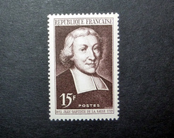 FRANCE 1951 N°882 ** (JEAN-BAPTISTE DE LA SALLE. 15F BRUN-LILAS) - Unused Stamps