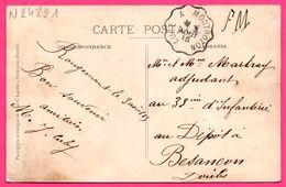Cp FM Convoyeur LURE à MONTBOZON 1915 - Rougemont - Vue Générale - Eglise - Edit. A. JOUCHOUX - Phototypie C. LARDIER - Marcofilie (Brieven)
