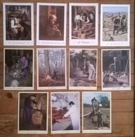 Lot De 18 Cartes Postales / Les Métiers D'antan / éditions Nivernaises - Artisanat
