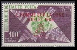 1969Upper Volta(Haute-Volta) 268Overprint # SUR LA LUNE  JUILLET 1969 4,50 € - Space