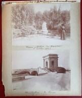 GAVARNIE LE CHAO NIMES STATUE DE DAUDET MONTPELLIER LE PEROU 4 PHOTOGRAPHIES ANCIENNES 1903 - Nîmes