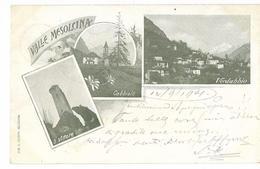 VERDABBIO - CABBIOLO: 3Bild-AK 1901 - GR Grisons