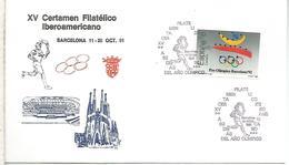 BARCELONA OLYMPIC TORCH SELLO PERFORADO PERFIN JUEGOS OLIMPICOS BARCELONA 92 - Sommer 1992: Barcelone