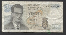 België Belgique Belgium 15 06 1964 -  20 Francs Atomium Baudouin. 3 V 3021786 - 20 Francs