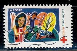 France 2017 - Oblitéré Used - Y&T N° AA 1422 - Lettre Verte - Carnet Croix Rouge - France