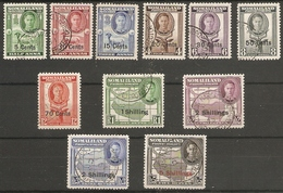 SOMALILAND 1951 SET SG 125/135 FINE USED Cat £70 - Somaliland (Protectorate ...-1959)