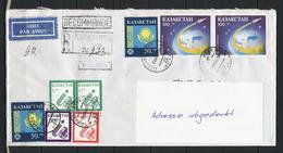 Kasachstan; MiNr. 18 (2x) + 19 + 21 + 22 (2x) + 25 (2x) Auf Einschreiben Nach Deutschland; E-11 - Kasachstan