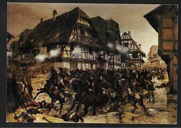 Cpm St004592 Guerre De 1870 Bataille De Woerth Froeschwiller 6 Aout 1870, Charge Des Cuirassiers De Reichshoffen - Otras Guerras
