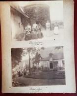 CHAVROCHES LA FAMILLE GALLI DANS LE CHATEAU DOMAINE MANOIR 7 PHOTOGRAPHIES ANCIENNES 1906 ALLIER 03 - France