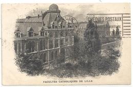 FACULTES CATHOLIQUES DE LILLE . OBLIT RECTO/VERSO DU 5/7/1924 . 2 SCANES - Lille