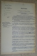 Rapport Vicinal De L'hérault - 1930 - Béziers - Bédarieux - La Braunhe Et Les Vignals - Carrières De L'arboussas - France