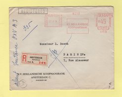 Pays Bas - Amsterdam - Recommande Pour Paris - Koopmansbank - 27-1-1954 - Period 1949-1980 (Juliana)