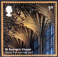 2017 Windsor Castle (2nd Series) - St George's Chapel - Nave: Fan-vaulted Roof 1st Class Stamp SG3929 - 1952-.... (Elizabeth II)