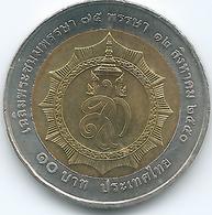 Thailand - Bhumibol - BE2550 (2007) - 10 Baht - 75th Birthday Of Queen Sirikit - KMY436 - ๒๕๕๐ - Thailand