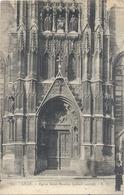 201. LILLE . EGLISE SAINT-MAURICE ( Portail Central ) CARTE AFFR AU VERSO LE 25-10-1924 . 2 SCANES - Lille