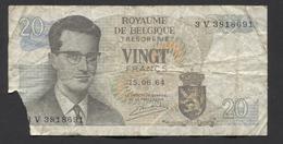 België Belgique Belgium 15 06 1964 -  20 Francs Atomium Baudouin. 3 V 3818691 - 20 Francs