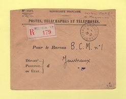 Poste Aux Armees 17 - Recommande - 28-1-1940 - Secteur Fortifie D'Haguenau - Storia Postale