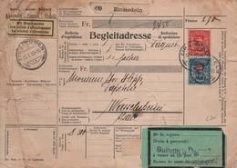 SUISSE  -  Bulletin D'expédition  1,20 Fr. Et  1,50 Fr. Avec  Perforations   E . K . - Ferrocarril