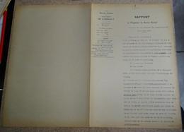Rapport Vicinal De L'hérault - 1929 - Béziers - Bédarieux - Demande De Voie Ferrée Particulière Parla Tuilerie - France