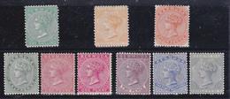 Bermuda Regina Vittoria 1865-93  Yverrt. 6,8,16,17,18,18a,20,21,22,  MLH * - Bermuda