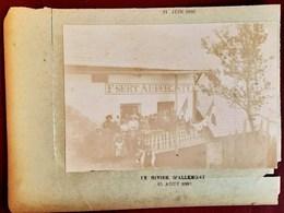 LE RIVIER D'ALLEMONT AUBERGE F. SERT SOCIETE DES ALPINISTES DAUPHINOIS 15 AOUT 1896 LE RIVIER GRANDE-MAISON - France