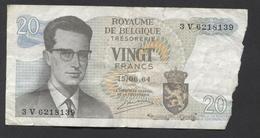 België Belgique Belgium 15 06 1964 -  20 Francs Atomium Baudouin. 3 V 6218139 - 20 Francs