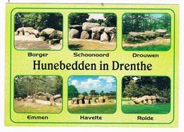 HUN-4   DRENTHE : Multiview With DOLMEN, Hunnebed, Menhir - Dolmen & Menhirs