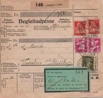 SUISSE  -  Bulletin D'expédition  ,  Multi -  Timbres  Oblitérés  Du  21 - 11 - 1933 . - Railway