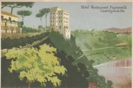 CASTELGANDOLFO-ROMA-HOTEL RESRTAURANT =PAGANELLI=I-CARTOLINA NON VIAGGIATA ANNO  1920-1930 - Roma