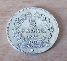 France - Monnaie 1/4 De Franc Louis Philippe 1837 A En Argent - TTB / SUP - France