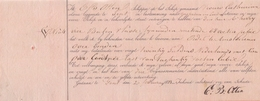 BELGIË/BELGIQUE/BELGIUM :20/02/1893: Cognossement Voor Transport Per Zeilschip / For The Transport By Sailing Ship .... - Transports