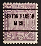 USA - Scott #701 – Precancel Benton Harbor, Michigan(1931) - United States