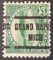 USA – Scott #568 – Precancel Grand Rapids Michigan (1923) - United States