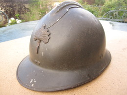 CASQUE MILITAIRE FRANCAIS GUERRE 1914 1918 GRENADE - Headpieces, Headdresses