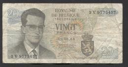België Belgique Belgium 15 06 1964 -  20 Francs Atomium Baudouin. 3 V  9773457 - [ 6] Treasury