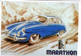 Automobiles MARATHON   -  Publicite D'epoque  - Illustrateur Geo Ham  -   Centenaire Editions CPM - Voitures De Tourisme
