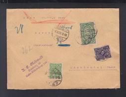 Dt. Reich Wertbrief Hamburg 1923 - Duitsland