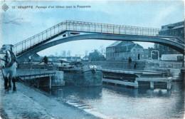 Belgique - Edit. S.B.P. N° 12 - Seneffe - Passage D'un Bâteau Sous La Passerelle - Seneffe
